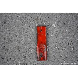 Porte-encens en pierre de lave émaillée rouge