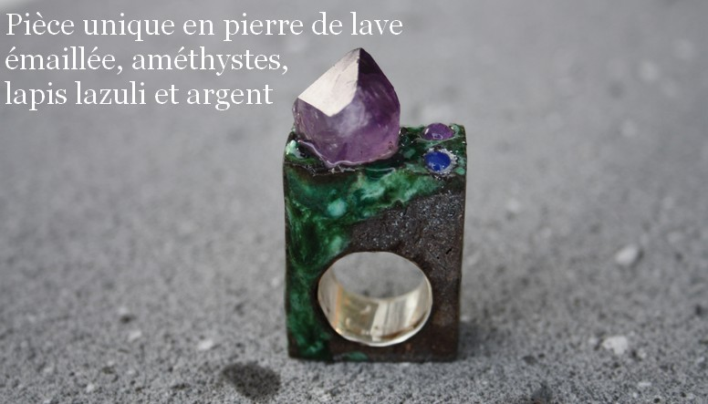 Piece unique bague